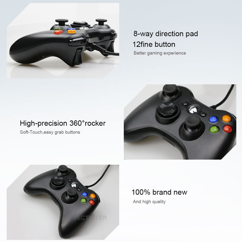 USB Wired Vibration Gamepad Joystick For PC Controller (Windows 7 / 8 / 10 )