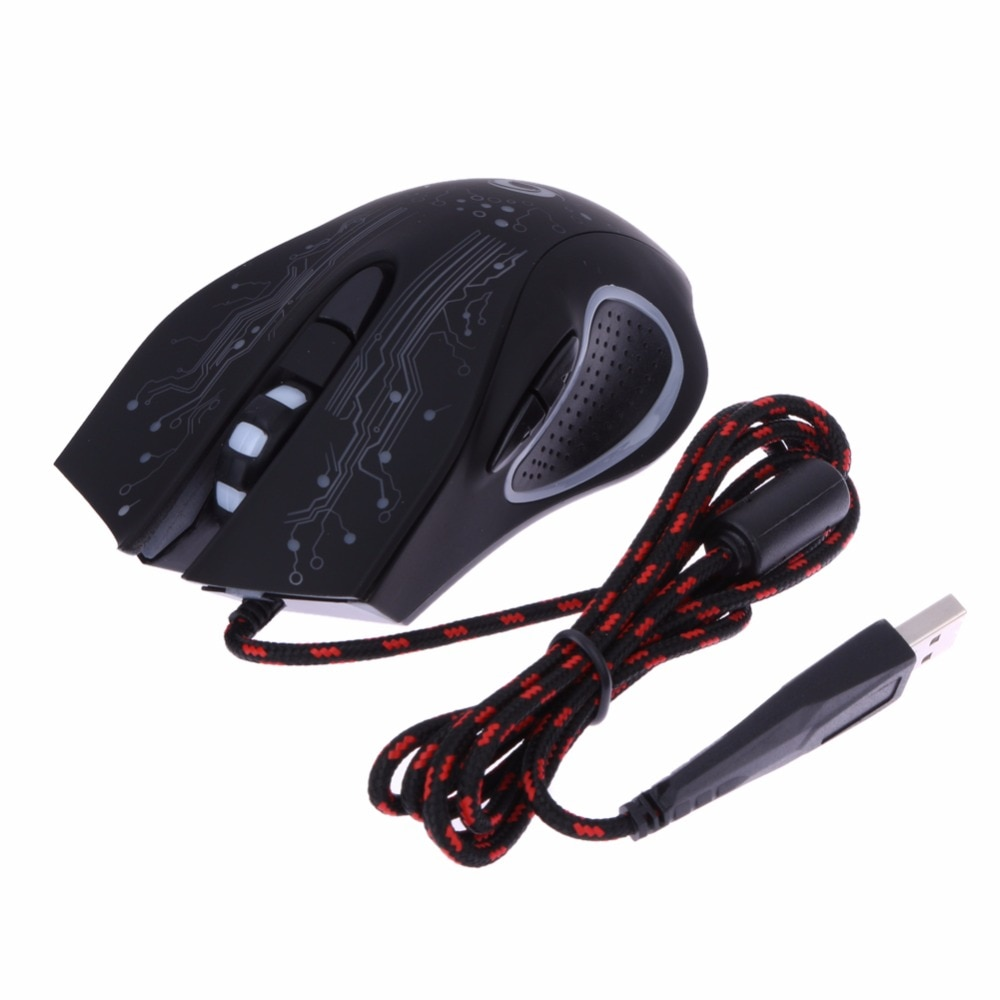 USB Wired LED Light Optical Gaming Mouse 6 Buttons 3200 DPI Computer PC Gamer Mice Backlight Esports Laptop Games Mouse for PUBG
