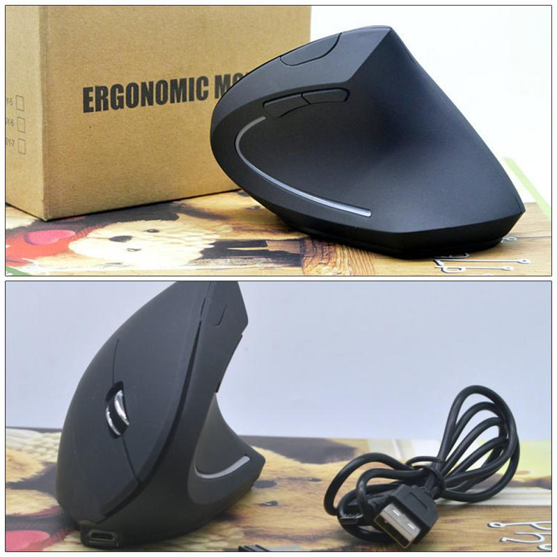 Wireless Mouse Vertical Mouse Ergonomic Mouse Optical 800 1200 1600 DPI 6 Buttons Gaming Mouse For Computer Laptop Mouse Gamer