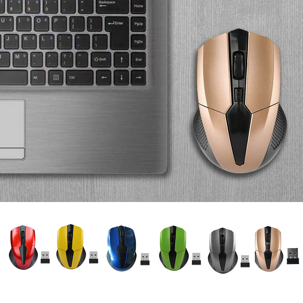 Portable 319 2.4Ghz Wireless Mouse Adjustable 1200DPI Optical Gaming Mouse Wireless Home Office Game Mice for PC Computer Laptop