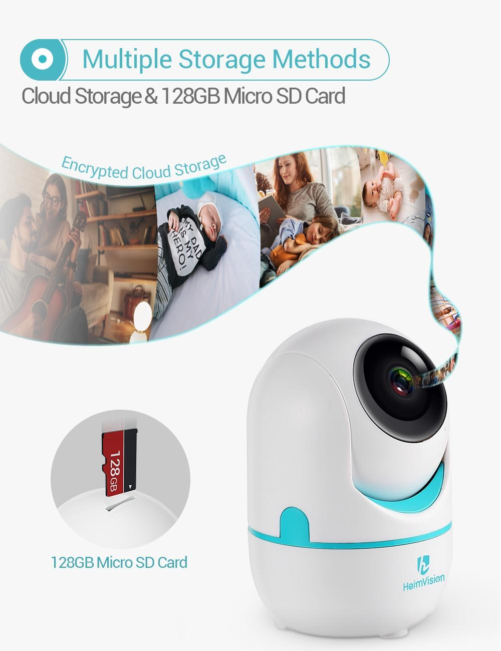 HeimVision 2K IP Camera Wifi Security 3MP Wireless 2 Way Audio Motion Detect Night Vision Surveillance Camera for Home/Kids/Pet
