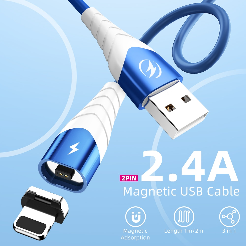 Magnetic Charger Micro USB C Cable For poco x3 pro For iphone 11 Cell Phone Charging Cord Quick Charge Magnet Type C USB Wire