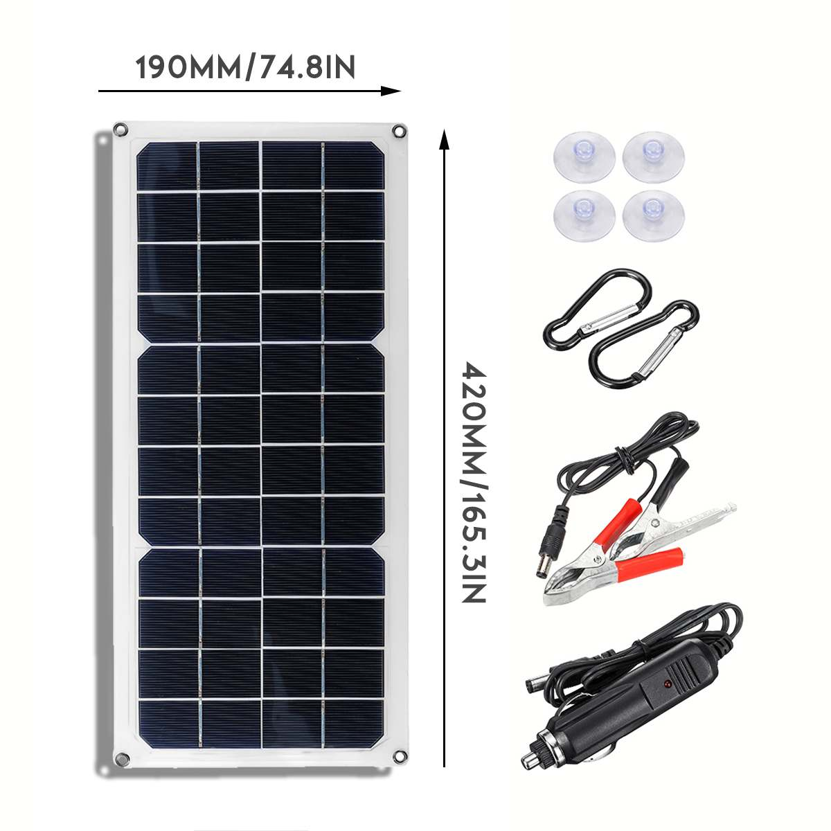 30W Solar Panel 12V Polycrystalline USB Cell Phone Charger