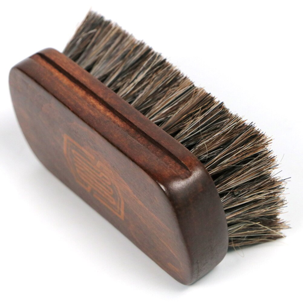 Horsehair Leather Textile Cleaning Brush for Car Interior Furniture Apparel Bag Shine Polishing Brush Auto Wash